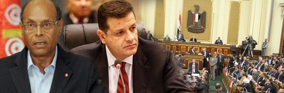 """البرلمان يفتح النار على """"المرزوقى"""" بعد انتقاده مصر"""