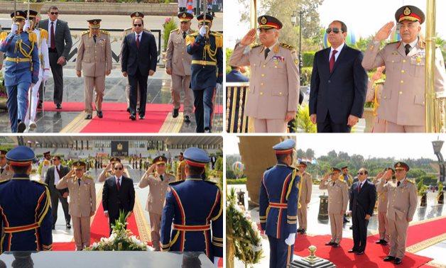 الرئيس السيسى يزور النصب التذكارى للجندى المجهول