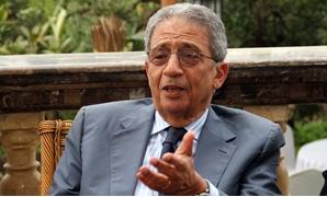 عمرو موسى أمين عام جامعة الدول العربية الأسبق