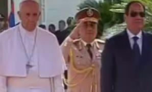 البابا فرانسيس فى قصر الاتحادية