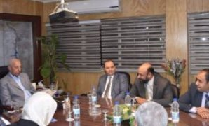 اجتماع وفد منظمة الفاو بمحافظة أسوان