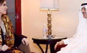 سحر نصر وزيرة الاستثمار و بندر حجار رئيس البنك الاسلامى للتنمية