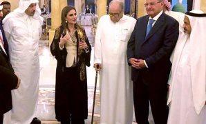 سحر نصر مع مستثمرين سعوديين
