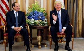 الرئيس السيسى والرئيس ترامب