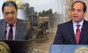 الرئيس السيسى خلال تواجده فى دمياط لافتتاح عدد من المشروعات