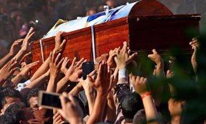 جثمان شهداء حادث المنيا الإرهابى