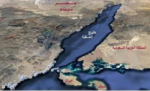خريطة توضح تيران وصنافير