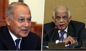 الدكتور على عبد العال والسفير أحمد أبو الغيط