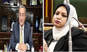 النائبة سولاف درويش وعمرو عبد المنعم محافظ القليوبية