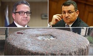 ما حقيقة الحجر الأثرى بسوق الكرشة فى المحلة ؟