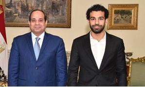 الرئيس السيسى ومحمد صلاح