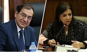وزيرة الاستثمار داليا خورشيد و طارق الملا وزير البترول والثروة المعدنية
