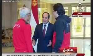 الرئيس السيسى يستقبل بعثة المنتخب