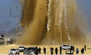 غارات غزة