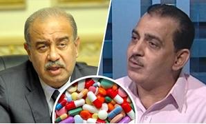 محمود فؤاد مدير المركز المصرى للحق فى الدواء وشريف إسماعيل رئيس الوزراء وأدوية