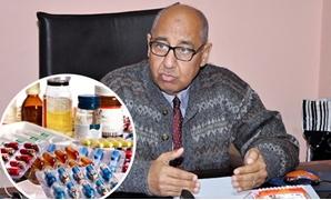 الدكتور على عوف رئيس الشعبة العامة للدواء بالغرف التجارية و أدوية