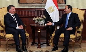 الرئيس السيسى  والملك عبد الله