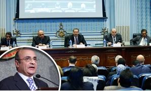 جانب من الاجتماع والمستشار عمر مروان وزير شؤون مجلس النواب