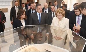 رئيس المجلس الفيدرالى الروسى تزور المتحف الإسلامى