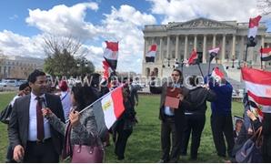 عدد من أعضاء الجالية المصرية