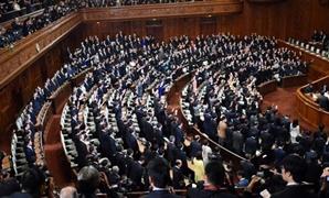 """بالصور.. تظاهرات خارج البرلمان اليابانى احتجاجا على مشروع """"قانون التآمر الجنائى"""""""